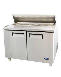 "Atosa MSF8302GR 48"" Two Door Sandwich/Salad Top Reach-In Refrigerator"