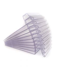 """Transparent Price Tag Holders for Shelving, 2"""" x 4"""" (pack 10)"""