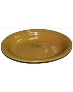"""9-3/4"""" Peach Platter, CS24"""