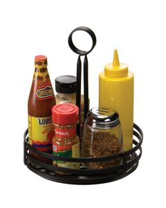 "American Metalcraft Round 8"" Condiment Basket, Wrought Iron"