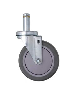 Stem Swivel Casters with Brakes for Shelving Posts (Set of 4)