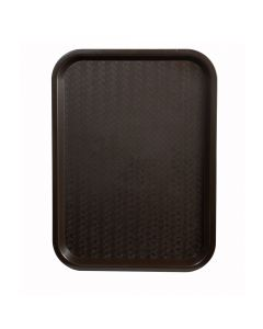 "14"" x 18"" Fast Food & Cafeteria Service Tray, Brown"