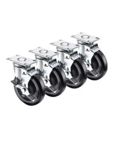 Casters, Set Of 4, For Fryers, 1 Set