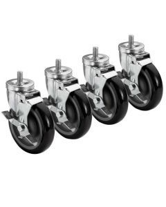 Casters, Set Of 4, 2 Locking