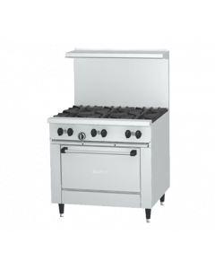"""US Range 36"""" Natural Gas Commercial Stove (1 Oven, 6 Burners)"""
