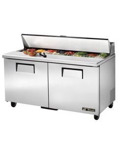 "60"" True TSSU-60-16-HC Two Door refrigerated Sandwich Prep Table"