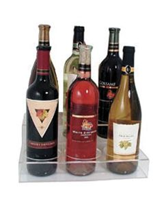 2-Tier Bottle Holder Display Shelf for Wine or Liquor