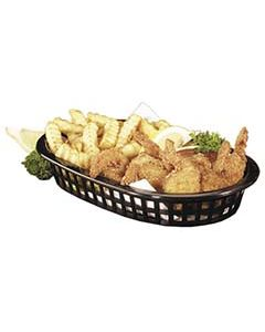 Tablecraft Oval Platter Serving Basket (Black, 1 Dozen)