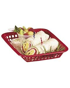 Tablecraft Rectangular Basket, Red, 1 Dozen