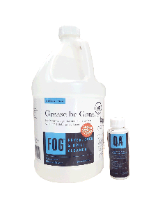 FOG Fryer, Oven, Grill Cleaner | 1 Gal. | Bonus QA Sanitizer