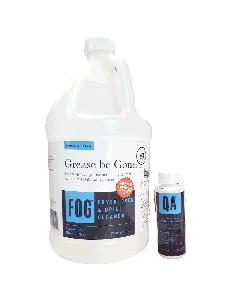 FOG Fryer, Oven, Grill Cleaner | 1 Gal. | Bonus QA Sanitizer