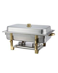 8 Qt Full Size Oblong Chafer Dish Unit