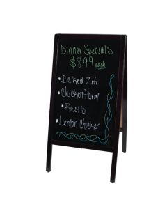 Dry Erase Marker Sandwich Board - Menu Easel Sidewalk Sign