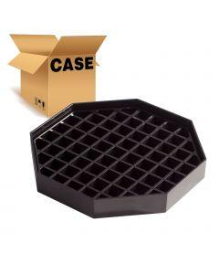 "6"" Restaurant Drip Tray, Black Octagon 6"" x 6"", Case of 4"
