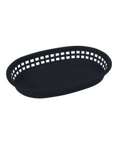 "Oval Platter Serving Basket, 10-3/4"" x 7-1/4"" x 1-1/2"" 