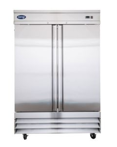 Entree CF2-SI Two Solid Door Two Section Reach-In Upright Freezer