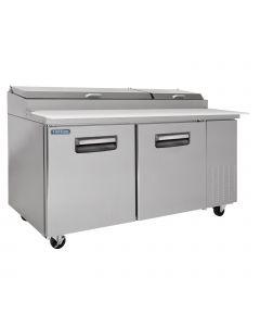 """67"""" Pizza Prep Refrigerator 2-Door - VPT67 by Volition   V-Series"""