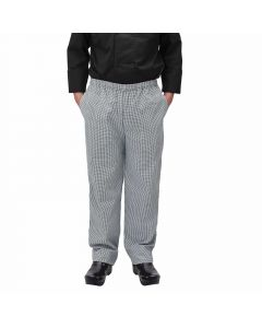 Houndstooth Chef Pants | Small | Relaxed Fit | Black & White
