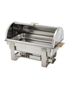 Grandeur 8 Qt Full Size Roll Top Chafer Buffet Food Warmer