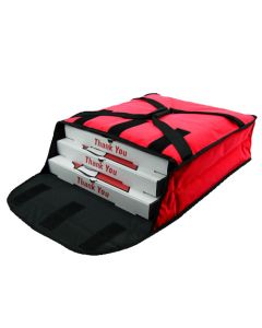 "Insulated Pizza Delivery Bag Holds 2-3 16"" Pizzas"