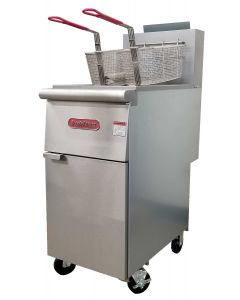 Volition F3-N-C 35-40 Lb Single Tank Gas Floor Fryer, 2 Baskets