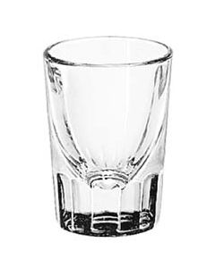 Libbey 1-1/4 oz Fluted Whiskey / Rum Shot Glass in Bulk (1 Dozen)