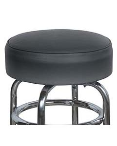 "15"" Black Replacement Cover for Retro Style Barstool- 6"" skirt with foam cushion insert"