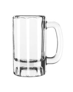 Libbey 5016 12 Oz. Glass Paneled Beer Mug