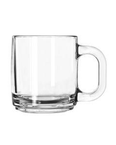 Libbey 10 Oz Clear Glass Mug for Coffee & Warm Beverages