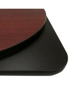 "30"" x 48"" Rectangular Reversible Table Top | Mahogany/Black"