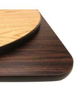 "24"" Dia. Round Reversible Table Top | Oak/Walnut"